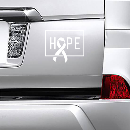 Hope Cancer Awareness Ribbon Sticker