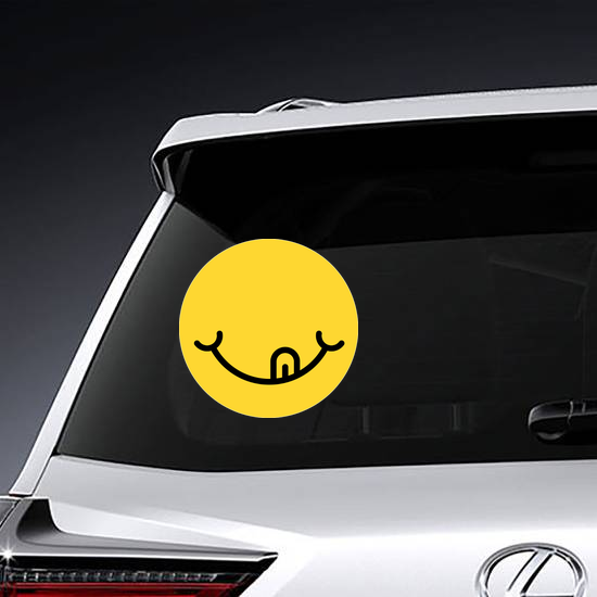 Hungry Emoji Face Sticker
