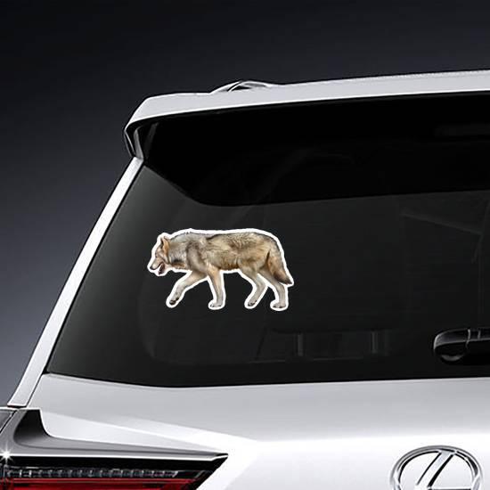Hunting Wolf Sticker