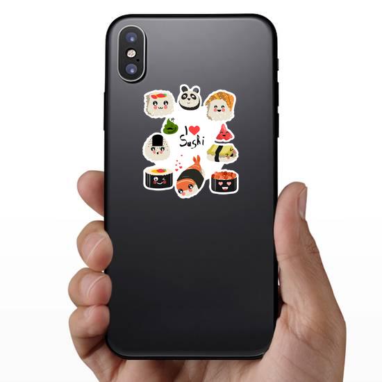 I Love Sushi Rolls Sticker