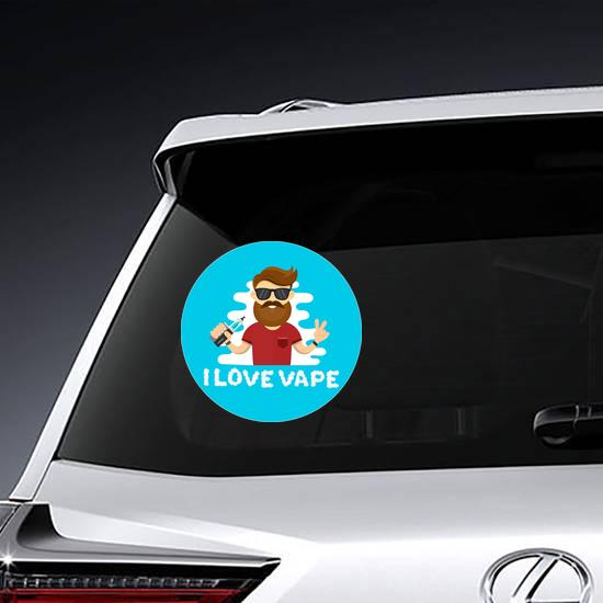 I Love Vape Hipster Sticker