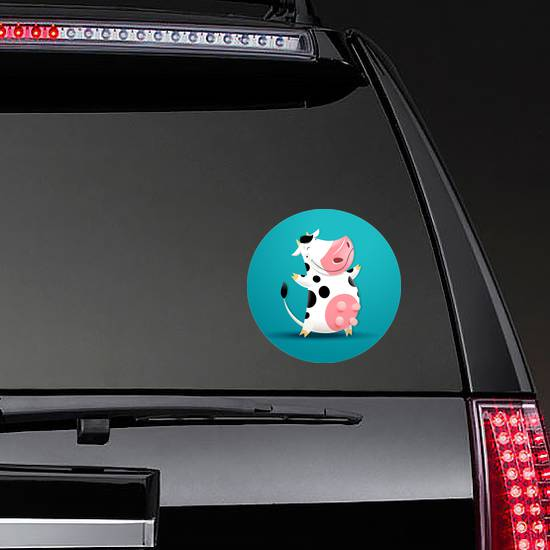 Illustration Of Funny Smiling Cow Sticker