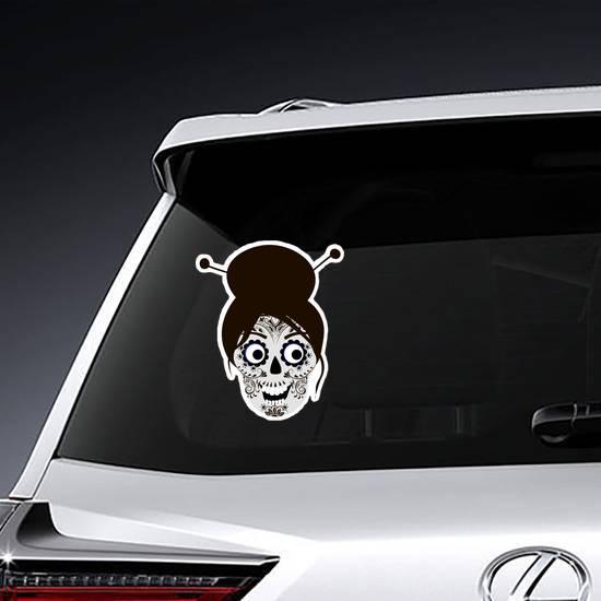 Japanese Sugar Skull Sticker example