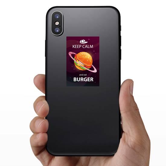 Keep Calm And Eat Burger Sticker