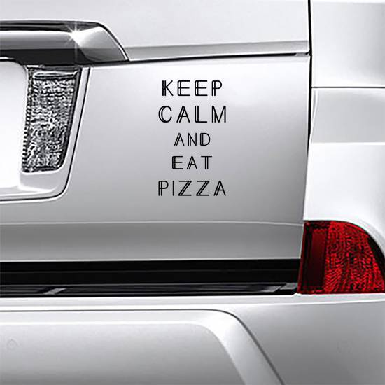Keep Calm And Eat Pizza Sticker