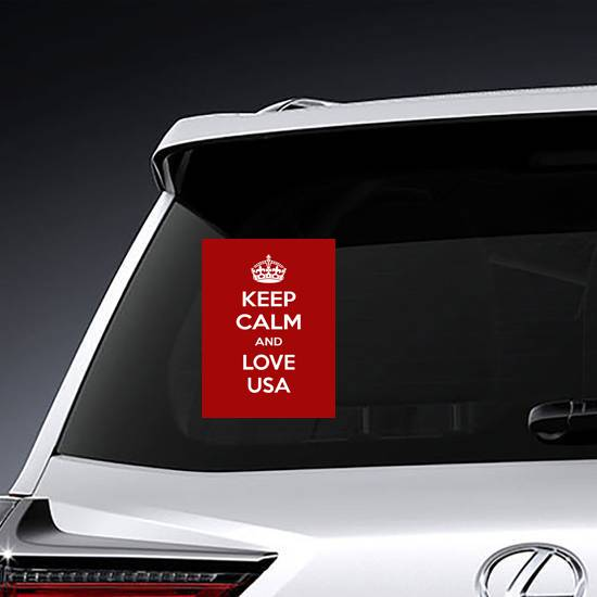 Keep Calm and Love USA Sticker