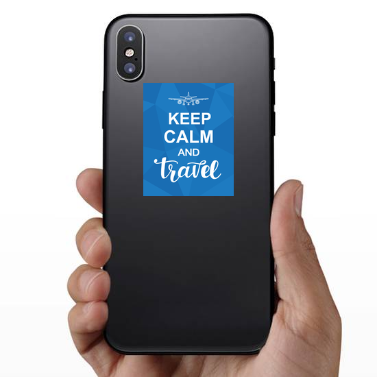 Keep Calm And Travel Sticker
