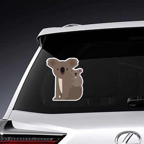 Koala and Baby Flat Icon Sticker