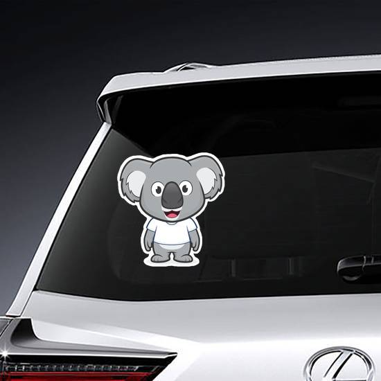 Koala in White T Shirt Sticker