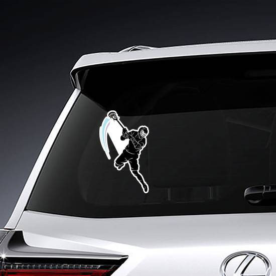 Lacrosse Leaping Player Sticker example
