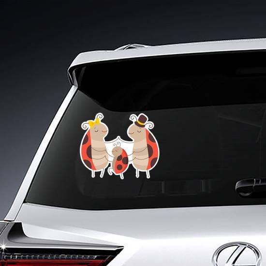 Ladybug Family Sticker