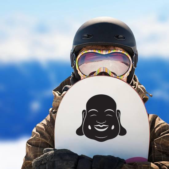 Laughing Buddha Head Sticker