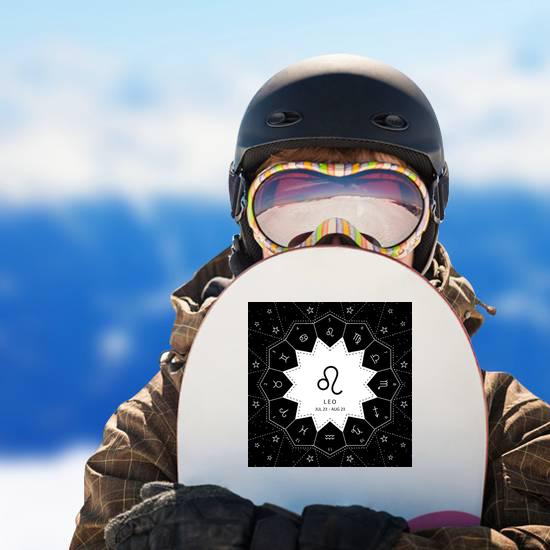 Leo Zodiac Signs Star Sky Background Sticker