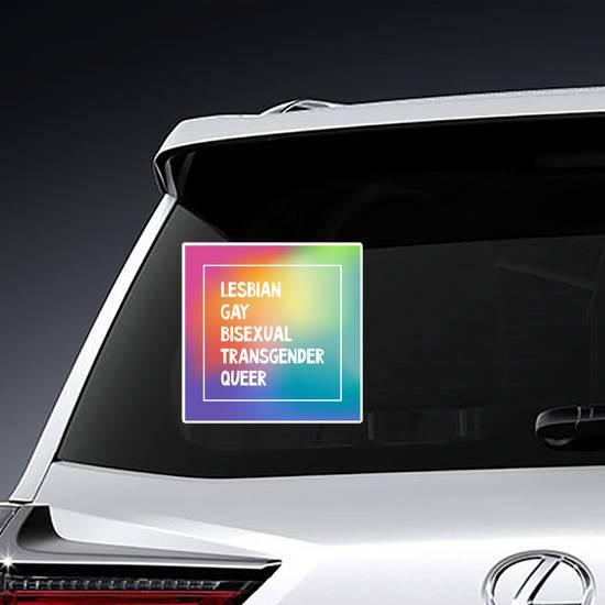 Lgbtq Sign Blurred Rainbow Sticker example