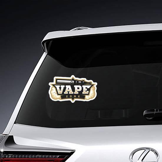 Light Vape Zone Logo Sticker example