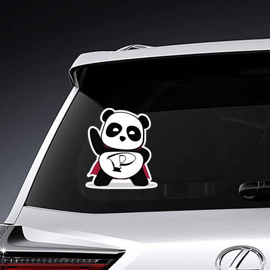 Little Cute Panda Superhero Sticker