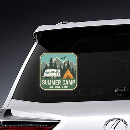 Live, Love, Summer Camp Sticker