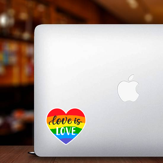 Love Is Love Rainbow Heart Sticker