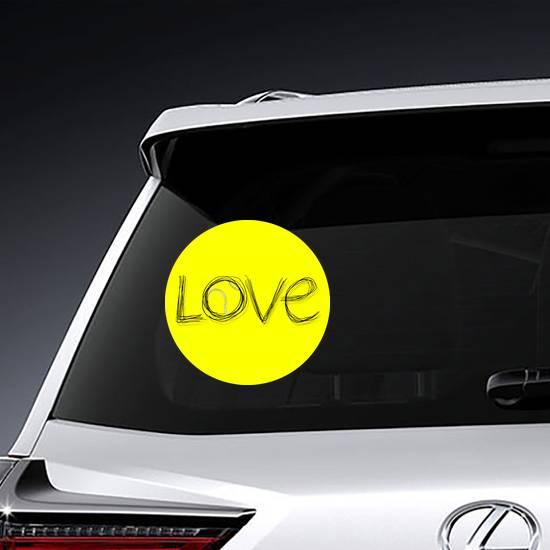 Love Tennis Symbol Sticker