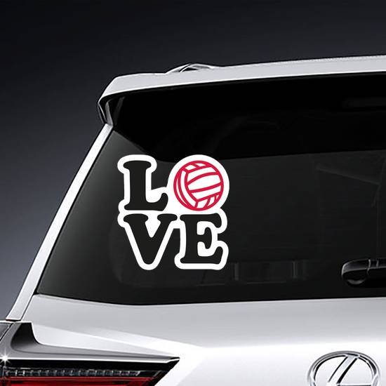 Love Word With Water Polo Ball Sticker