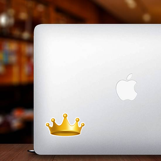 Lovely Gold Crown Sticker