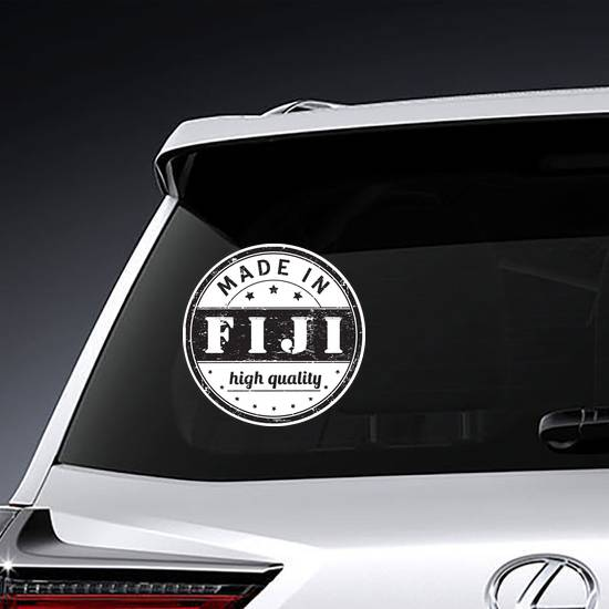 Made In Fiji High Quality Stamp Sticker example
