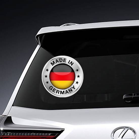 Made In Germany Silver Badge Sticker example