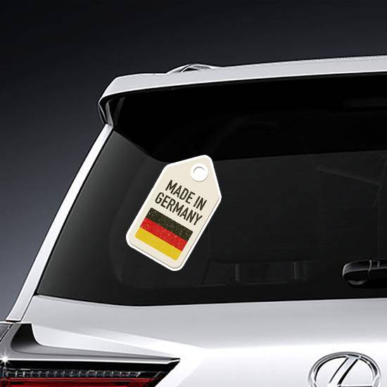 Made In Germany Tag Sticker example
