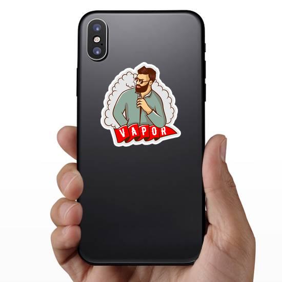 Man With Vape Cloud Sticker