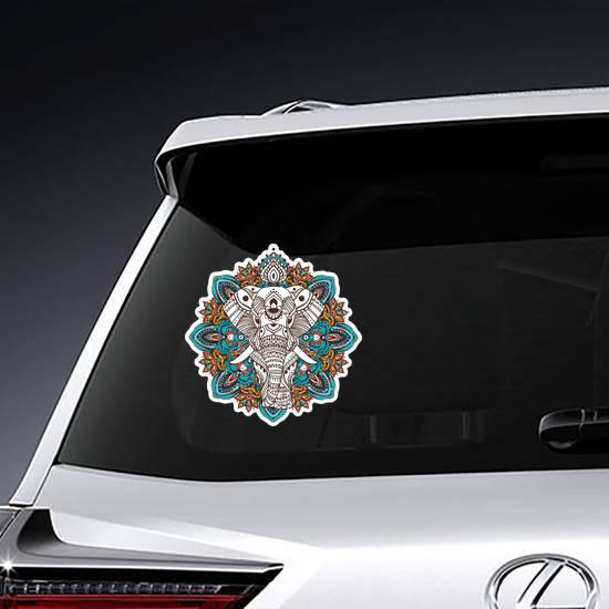 Mandala Boho Elephant Sticker example