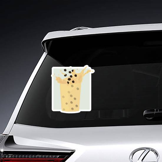 Milk Splash Boba Sticker