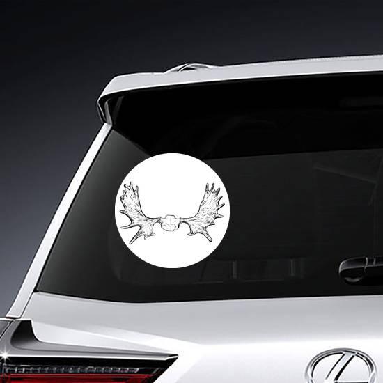 Moose Antlers Sticker