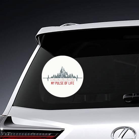 Mountain Pulse Sticker