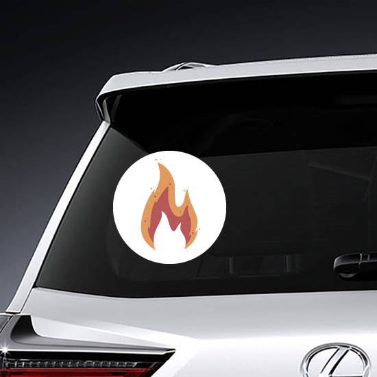 Muted Color Flame Sticker example