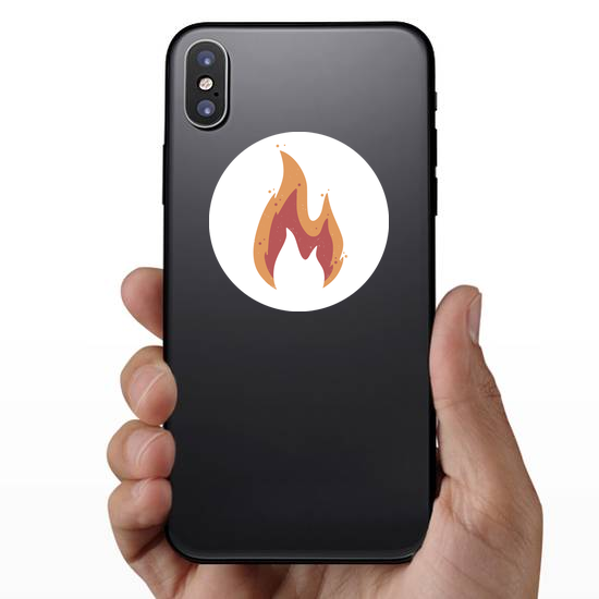 Muted Color Flame Sticker