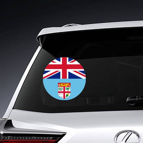 National Flag Republic Of Fiji Circle Sticker example