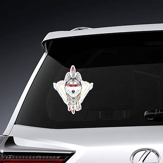 Native American Wolf Sticker example