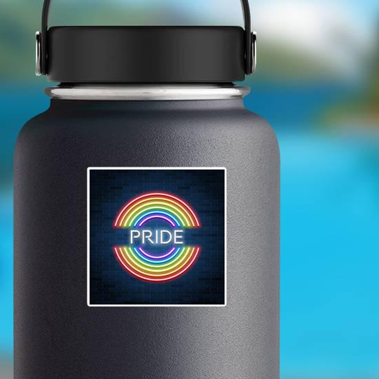Neon Lgbt Pride Sign Sticker