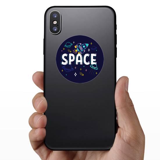 Neon Space Elements Sticker