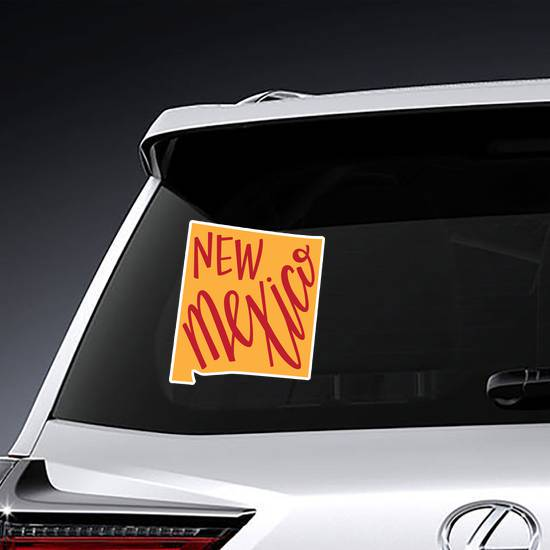 New Mexico State Hand Lettering Sticker example