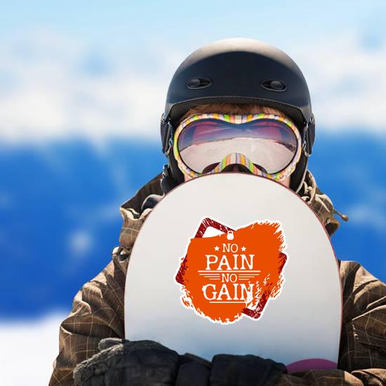 No Pain No Gain Fitness Sticker
