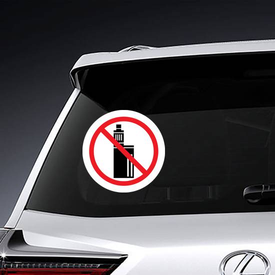 No Vaping Sign Sticker example