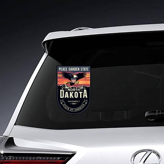 North Dakota Banner Sticker example