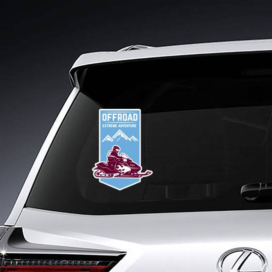 Offroad Snowmobile Extreme Adventure Sticker