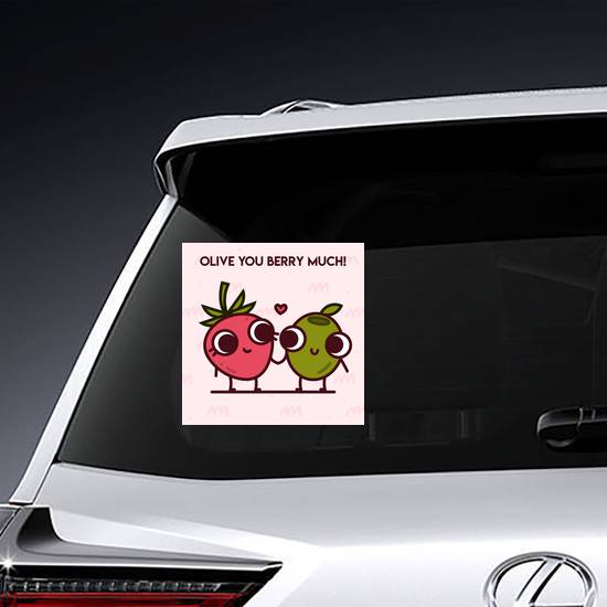 Olive You Berry Much Sticker