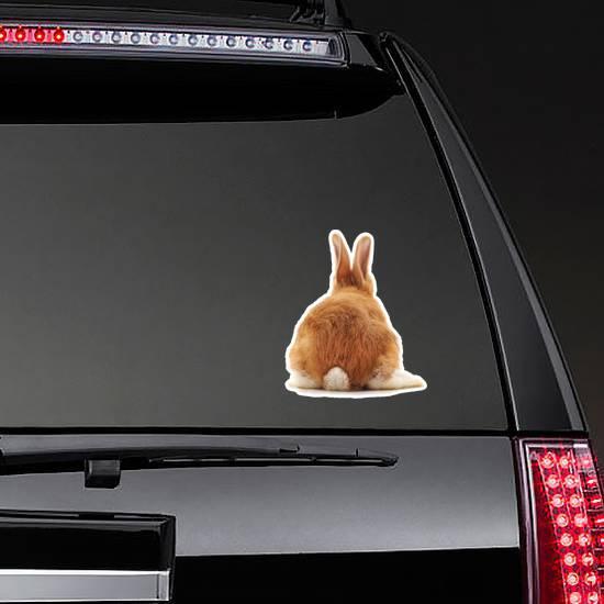 One Brown Rabbit Tail Sticker