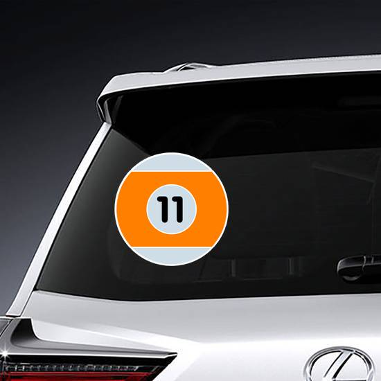 Orange Billiard Ball Illustration Sticker