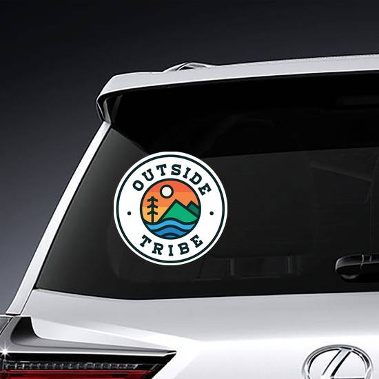 Outside Tribe Circle Sticker example