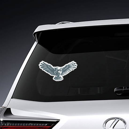Owl in Shadow Sticker example