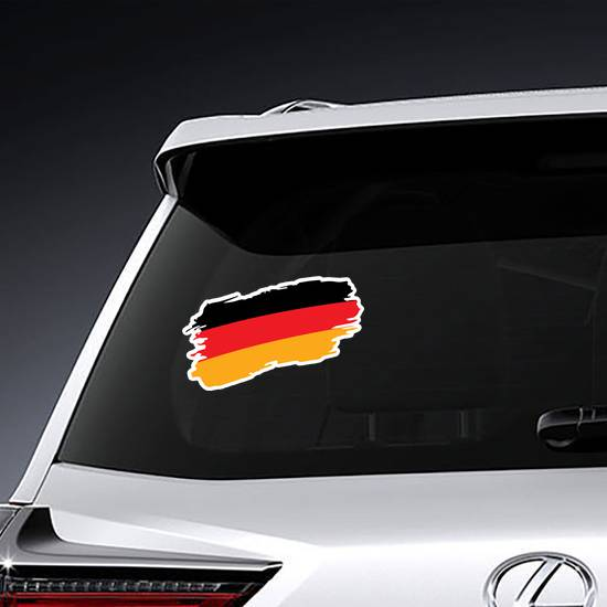 Painted Germany Flag Sticker example
